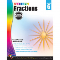 CD-704513 - Spectrum Gr6 Fractions Workbook in Fractions & Decimals
