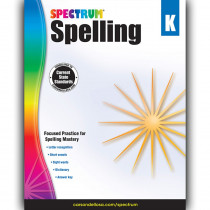 CD-704596 - Spectrum Spelling Gr K in Spelling Skills