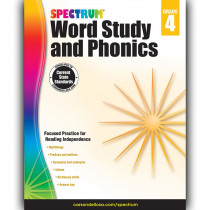 CD-704607 - Spectrum Gr 4 Word Study And Phonics in Word Skills