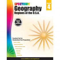 CD-704659 - Spectrum Geography Regions Of The Usa Gr 4 in Geography