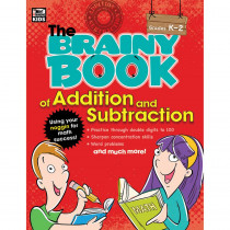 CD-704665 - Brainy Book Of Addition And Subtraction Gr K-2 in Books