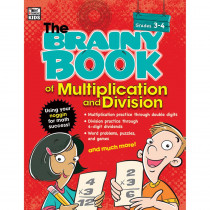 CD-704666 - Brainy Book Of Multiplication And Division Gr 3-4 in Books