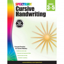 CD-704692 - Spectrum Cursive Handwriting Gr 3-5 in Handwriting Skills