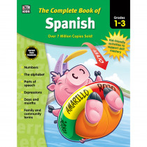 CD-704929 - Complete Book Of Spanish Gr 1-3 in Books