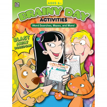 CD-705034 - Brainy Day Word Searches Mazes And More Ages 6 - 8 in Classroom Activities