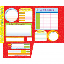 CD-8211 - Substitute Teacher Folder Intermed 9-1/2 X 11-1/2 Storage Pocket in Substitute Teachers