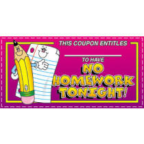 CD-9576 - No Homework Tonight Coupons in Tickets