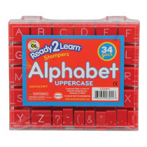 CE-6811 - Manuscript Alphabet Stamp Set 1 Uppercase in Stamps & Stamp Pads