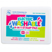 CE-SA541 - Stamp Pad Electrimc Washable Hot Pink Purple Turq Lime Green in Stamps & Stamp Pads