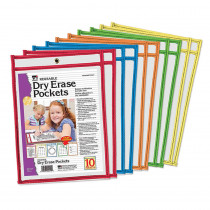CHL29010 - Reusable Dry Erase Pockets 10 Set in Dry Erase Sheets