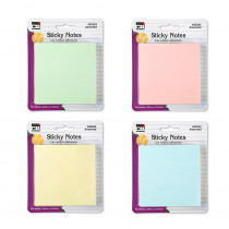 CHL33234 - Sticky Notes 3X3 4 Pads Pastel Asst in Post It & Self-stick Notes