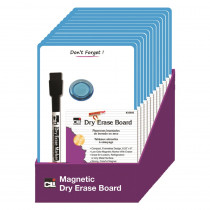CHL35600ST - Mini Magnetic Dry Erase Board 12/St Blue Frame in Magnetic Boards