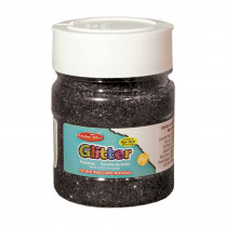 CHL41420 - Creative Arts Glitter 4Oz Jar Black in Glitter