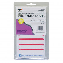 CHL45230 - File Folder Labels Red in Mailroom
