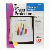 CHL48241 - Sheet Protectors Clear Box Of 100 in Sheet Protectors