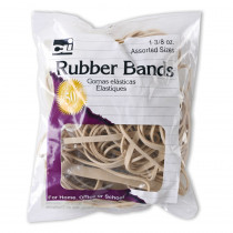 CHL56381 - Rubber Bands Natural Color 1 3/8 Oz Bag in Mailroom
