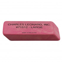 CHL71512 - 12/Bx Large Pink Economy Wedge Erasers in Erasers