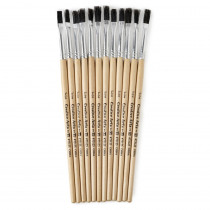 CHL73125 - Brushes Stubby Easel Flat 1/4In Natural Bristle 12Ct in Paint Brushes