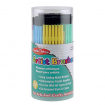 CHL73344 - Brushes Artist Plastic Asst Clrs 144 Tub in Paint Brushes