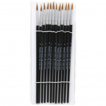 CHL73504 - Brushes Water Color Pointed #4 9/16 Camel Hair 12 Ct in Paint Brushes