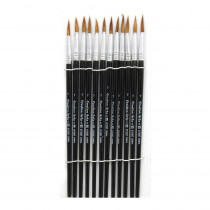 CHL73507 - Brushes Water Color Pointed #7 3/4 Camel Hair 12 Ct in Paint Brushes