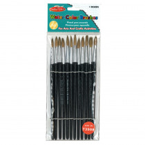 CHL73508 - Brushes Water Color Pointed #8 13/16 Camel Hair 12 Ct in Paint Brushes