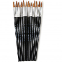 CHL73510 - Brushes Water Color Pointed #10 15/16 Camel Hair 12 Ct in Paint Brushes