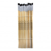CHL73525 - Brushes Easel Flat 1/4In Bristle 12Ct in Paint Brushes
