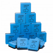 CHL74549 - Whiteboard Eraser Learning Is Fun 15 Pk in Erasers