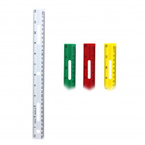 CHL77412 - 12In Plastic Ruler Assorted Colors in Rulers