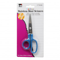 CHL80505 - Scissors Childrens 5In Pointed Stainless Steel Asst Colors in Scissors