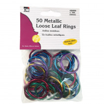 CHL85000 - Assorted Color Metallic Book Rings in Book Rings