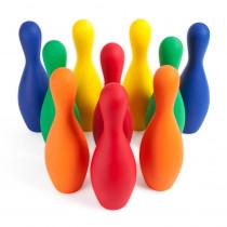 CHSFBPINSETCLR - Assrtd Colors Bowling Ball Set Foam Ball Pins in Toys
