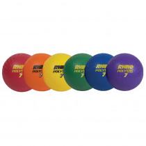 CHSPX7SET - Playground Ball Set Of 6 Rhino 7In in Balls