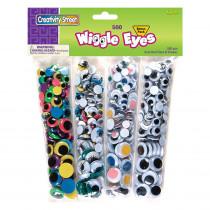 CK-3435 - Wiggle Eyes 500 Asst. in Wiggle Eyes