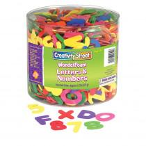 CK-4304 - Wonderfoam Letters & Over 1500 Pcs Numbers Clear Plastic Tub in Foam