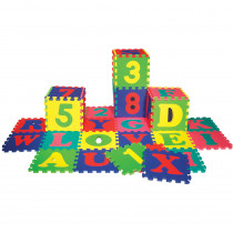 CK-4390 - Wonderfoam Letters & Numbers Puzzle Mat Set 72 Pieces in Foam
