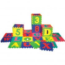 CK-4390 - Wonderfoam Letters & Numbers Puzzle Mat Set 72 Pieces in Foam