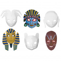 CK-4653 - Multi Cultural Dimensional Masks 24Pk in Art & Craft Kits