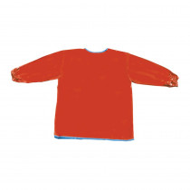 CK-520801 - Long Sleeve Artist Smock Red in Aprons