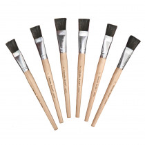 CK-5943 - Stubby Easel Brushes 1 Wide 6-Set 1 Set Of 6 in Paint Brushes