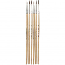 CK-5945 - Tapered Water Color Brush 6-Set 7/16 Long Size 2 in Paint Brushes