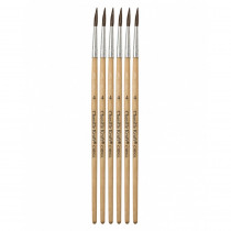 CK-5946 - Tapered Water Color Brush 6-Set 9/16 Long Size 4 in Paint Brushes