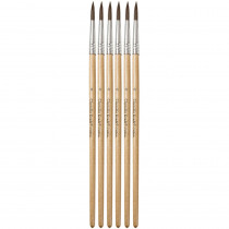 CK-5947 - Tapered Water Color Brush 6-Set 11/16 Long Size 6 in Paint Brushes