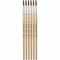 CK-5949 - Tapered Water Color Brush 6-Set 13/16 Long Size 8 in Paint Brushes