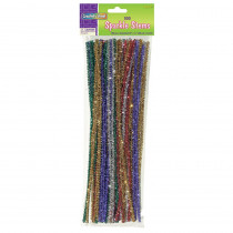 CK-711601 - Chenille Stems Assorted 12 Sparkle in Chenille Stems