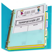 5-Tab Index Dividers with Multi-Pockets, Bright Color Assortment, 8-1/2 x 11 - CLI07650 | C-Line Products Inc | Dividers