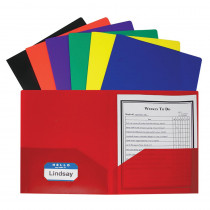 CLI33950 - Two Pocket Poly Portfolios 36/Box Assorted Without Prongs in Folders