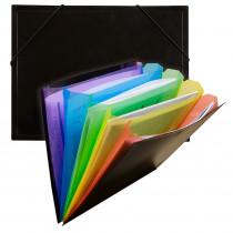 CLI59011 - Rainbow Document Sorter Black/Multi in Storage