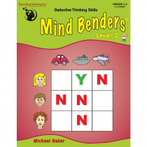 CTB1330 - Mind Benders Beginning Book 2 Gr 1-2 in Games & Activities